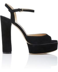 Jimmy Choo - Black Peachy Platform Sandal - Lyst