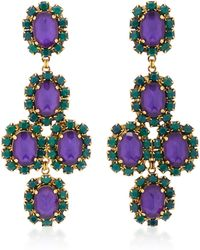 Erickson Beamon | Funhouse 24k Gold-plated Crystal Earrings | Lyst