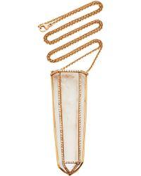 Kimberly Mcdonald - Crystal Obelisk And Diamond Necklace - Lyst
