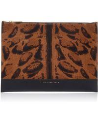 Victoria Beckham - Animal Print Leather Pouch - Lyst