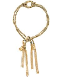Carolina Bucci - Lucky Strength Bracelet With Sacrab Charms And One Pave Link - Lyst