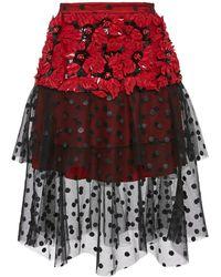 Rodarte - Exclusive Poinsettia Flower Layered Tulle Skirt - Lyst
