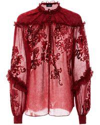 J. Mendel - Sequin Embroidered Blouse - Lyst