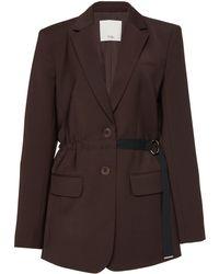 Tibi - Tropical Belted Wool-blend Blazer - Lyst
