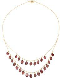 Renee Lewis - 18k Gold Garnet Necklace - Lyst