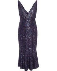 Naeem Khan - Sequined Stretch-silk Dress - Lyst