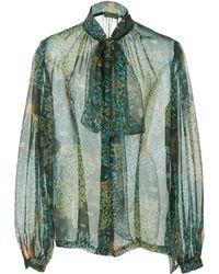 Alberta Ferretti - Floral Silk Blouse - Lyst