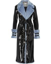 Eleanor Balfour - Exclusive Serena Faux Fur-trimmed And Vinyl Trench Coat - Lyst