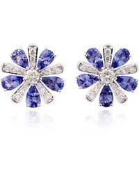 Hueb - Exclusive 18k White Gold, Tanzanite And Diamond Earrings - Lyst