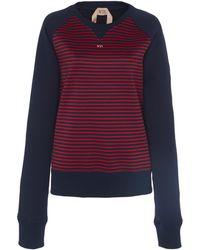 N°21 - Wilma Striped Cotton Sweatshirt - Lyst