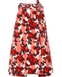 Marni - A Line Floral Midi Skirt - Lyst
