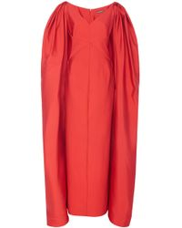 Zac Posen - Cape-accented Faille Gown - Lyst
