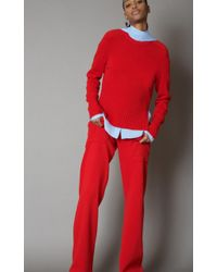 Cedric Charlier - Ribbed Pullover Virgin Wool Sweater - Lyst