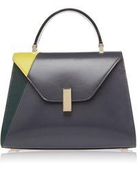 Valextra - Iside Color-blocked Leather Shoulder Bag - Lyst