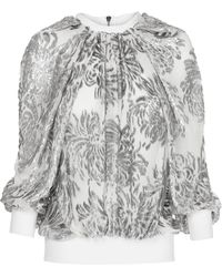 Maticevski - Plaisir Metallic Silk Sweater - Lyst