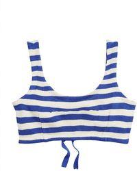 Ralph Lauren - Striped Silk Bra Top - Lyst
