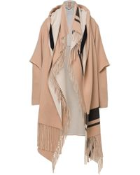 Dorothee Schumacher - Cady Fringy Volume Hooded Jersey Coat - Lyst