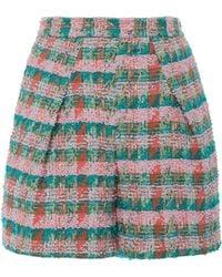 Zac Posen - High-rise Tweed Shorts - Lyst