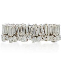 Suzanne Kalan | 18k White Gold Diamond Ring | Lyst