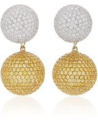 Anabela Chan - Diamond Canary Bauble Earrings - Lyst