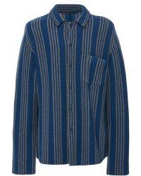Haider Ackermann - Striped Wool-blend Shirt - Lyst