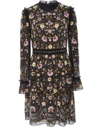 Needle & Thread - Marella Floral-embroidered Mini Dress - Lyst
