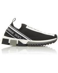 Dolce & Gabbana Sorrento Printed Stretch-jersey Trainers - Black