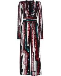 Zuhair Murad - Striped Sequined Tulle Jumpsuit - Lyst