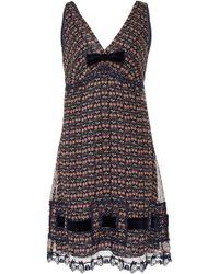 Anna Sui - Blooms Crinkle Chiffon Dress - Lyst