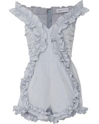 Alice McCALL | Stuck On You Ruffle Playsuit | Lyst