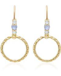 Daria de Koning   Small Orbit 18k Gold Multi-stone Hoop Drop Earrings   Lyst