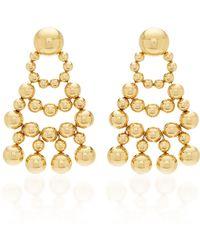 Nikos Koulis - Lingerie Yellow Gold Earrings - Lyst