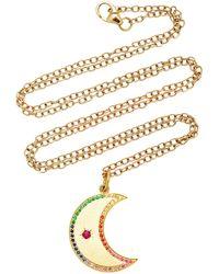 Andrea Fohrman - Crescent Moon Multi-sapphire Necklace - Lyst
