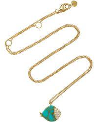 Nayla Arida - Turquoise Fish Pendant Necklace - Lyst