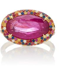Martin Katz - One-of-a-kind Pink-red Modified-oval Ruby Ring - Lyst