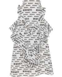 Rodarte - Logo-print Ruffled Cloqué Skirt - Lyst