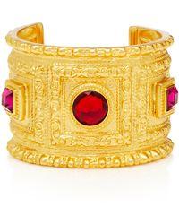 Ben-Amun - Gold-plated Crystal Cuff - Lyst