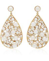 Nancy Newberg - Yellow Gold Large Teardrop Earrings - Lyst