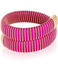 Carolina Bucci - Magenta Caro Gold-plated Bracelet - Lyst