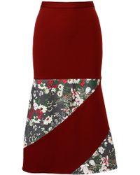 ANOUKI - Burgundy Godet Skirt - Lyst