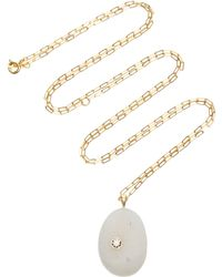 CVC Stones - One-of-a-kind Chalky 18k Gold, Stone And Diamond Necklace - Lyst