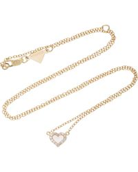 Alison Lou - 14k Gold Diamond Heart Necklace - Lyst