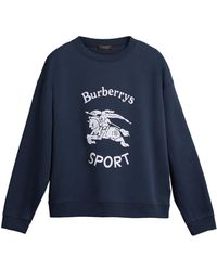 Burberry - Printed Cotton-blend Sweatshirt - Lyst
