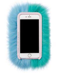 Charlotte Simone - Mint Green & Pastel Blue Phone Fluff - Lyst