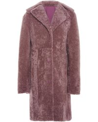J. Mendel - Reversible Shearling Coat - Lyst
