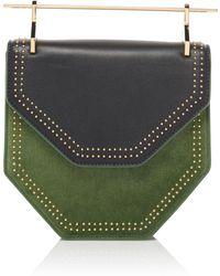M2malletier - Studded Suede Amor Fati Hexagon Handbag - Lyst