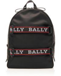 Bally - Nylon Logo Strap Backpack - Lyst