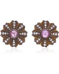 Arman Sarkisyan - 22k Gold, Pink Opal And Diamond Earrings - Lyst