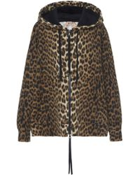 N°21 - Adele Leopard Fleece Hoodie - Lyst