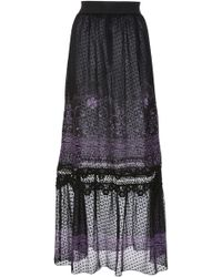 Anna Sui - Fountains Of Fancy Clip Dot Jacquard Skirt - Lyst